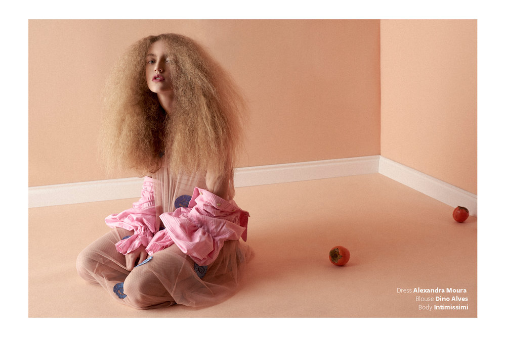 Maria Rosa shot by Frederico Martins and hair by Rui Rocha.