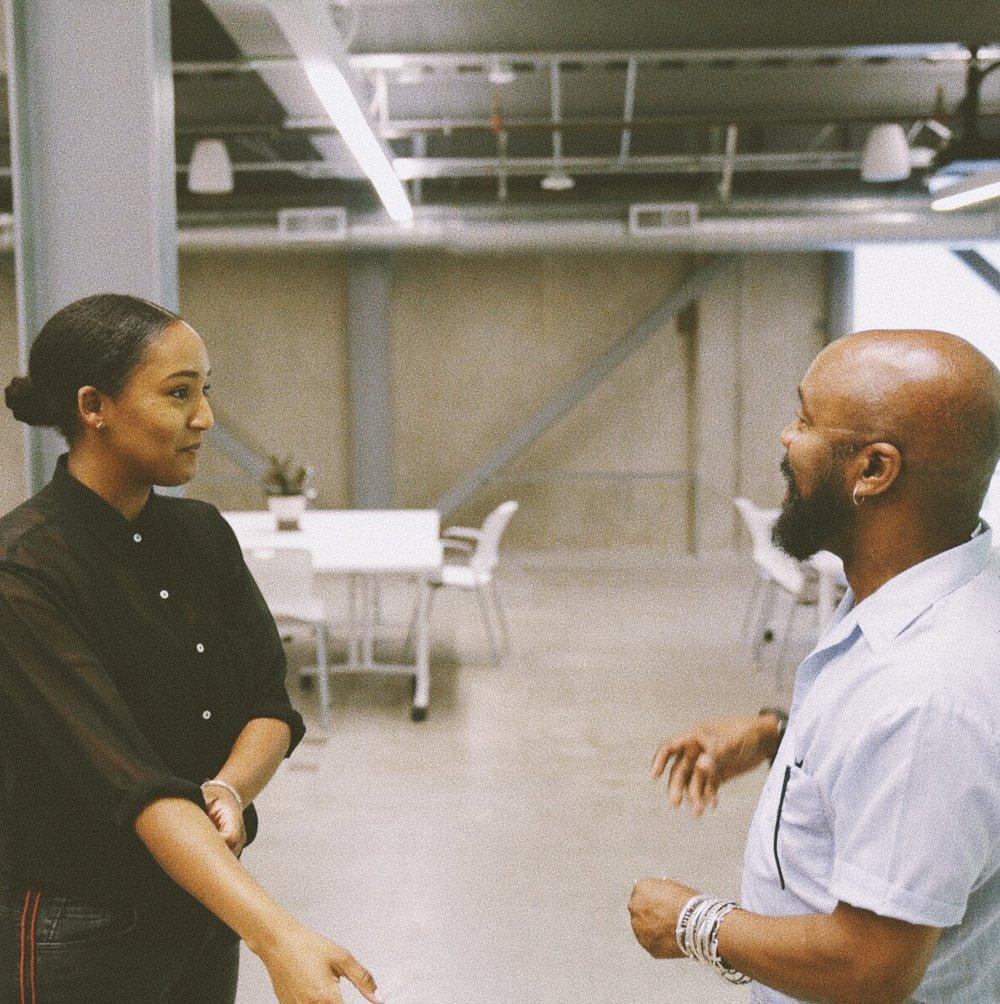 With artist/designer, JazzHeadz