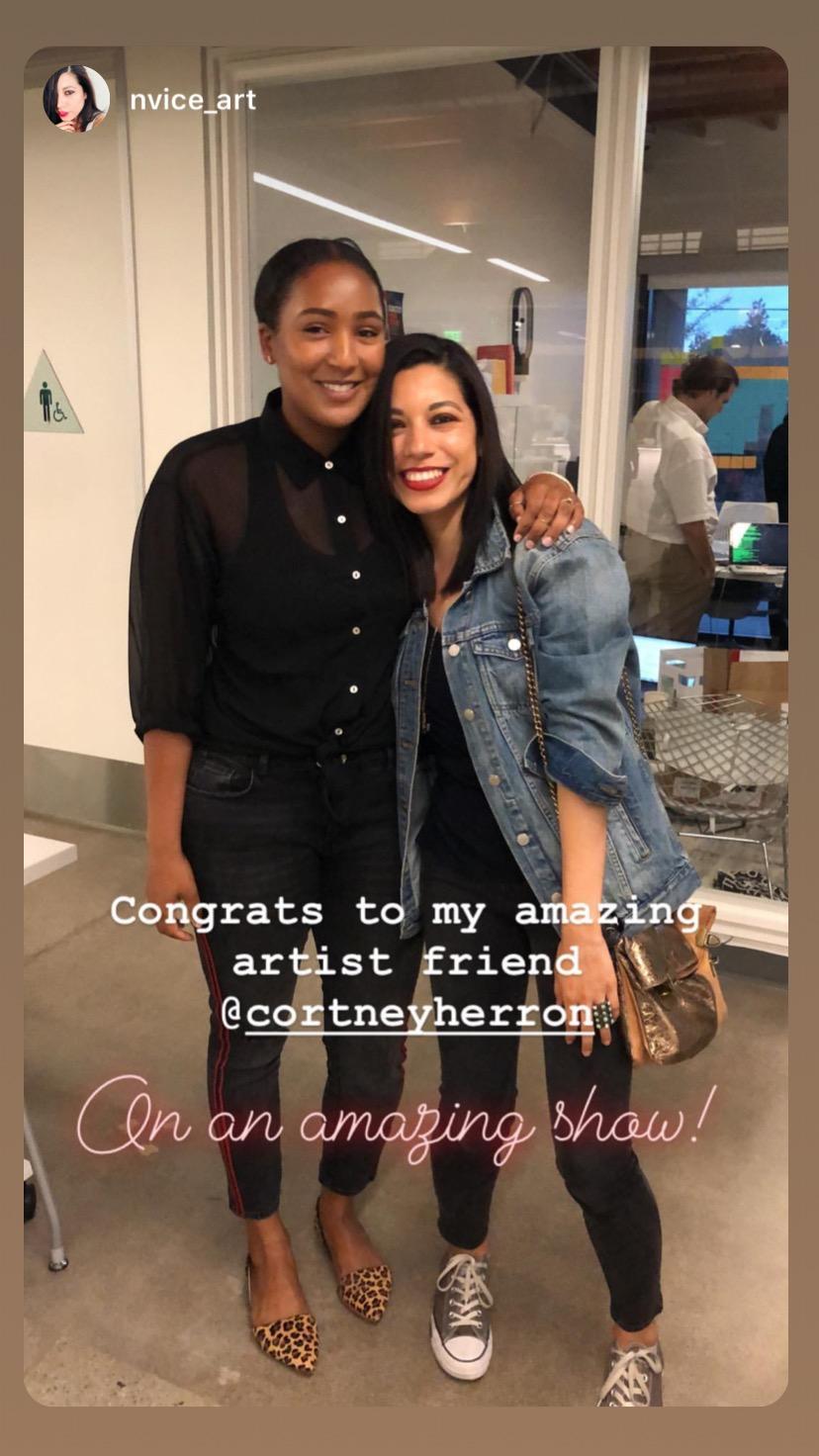 With artist, Natalia Valle
