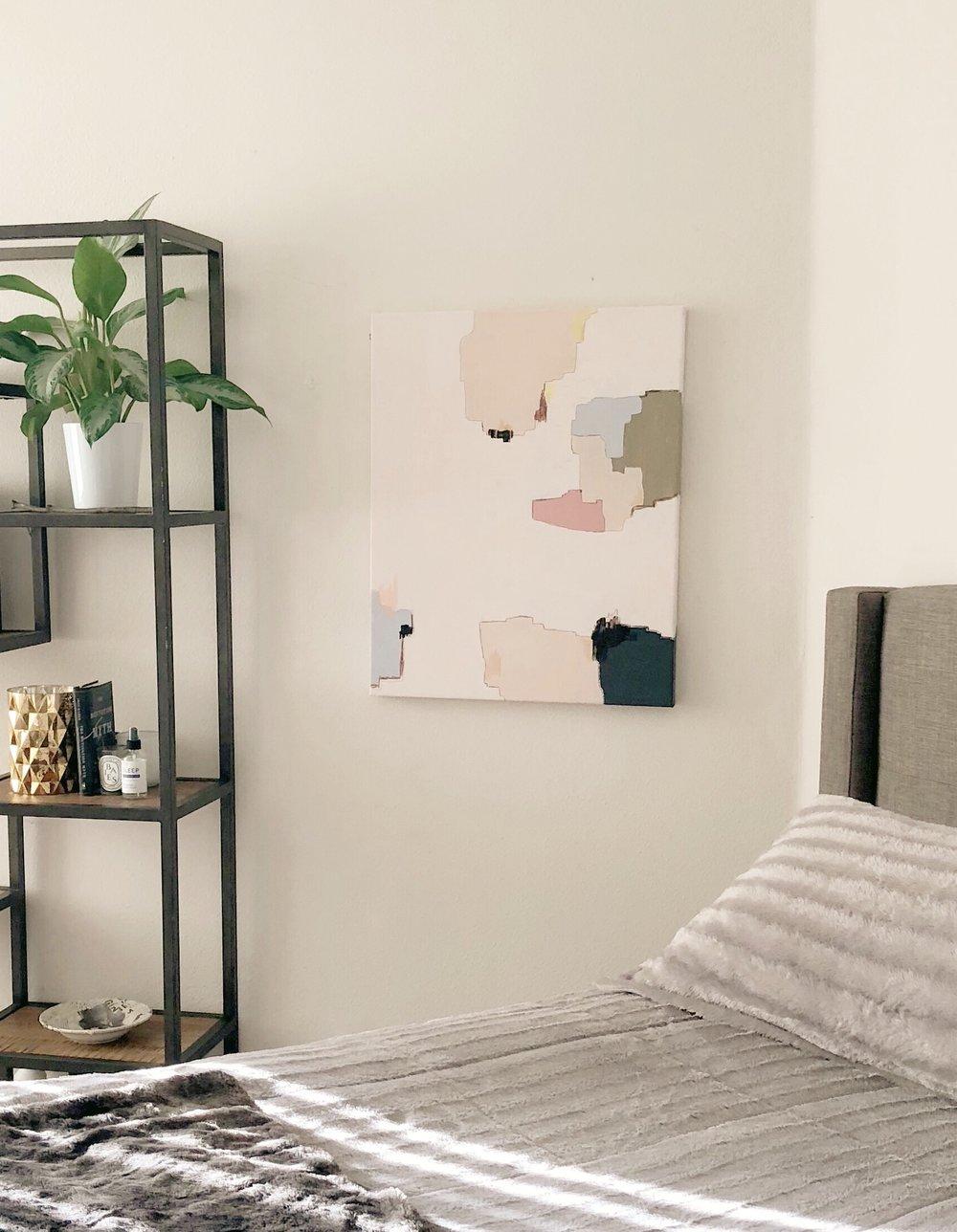 """""""BRDR03"""", 2018  Acrylic on canvas, 24"""" x 30  $400"""