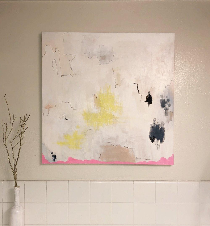 """Marshland, 2018  Acrylic on canvas, 36"""" x 36""""  $850"""
