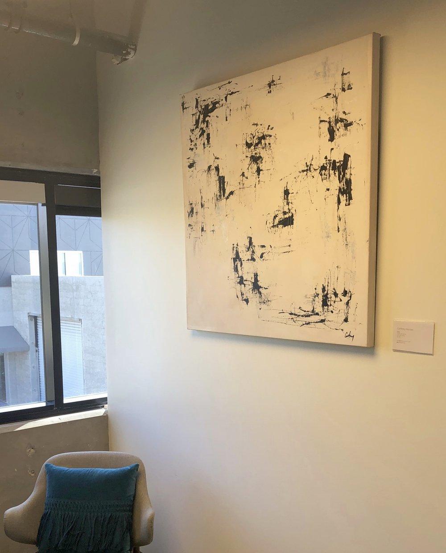 """Stix, 2018  Acrylic on canvas, 40"""" x 40""""  $950"""