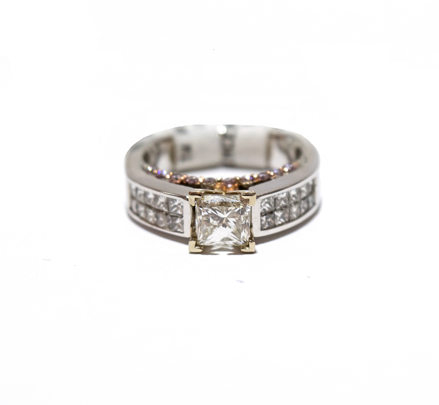 Channel Set Princess Cut Diamond Ring — Home 916ab59ca