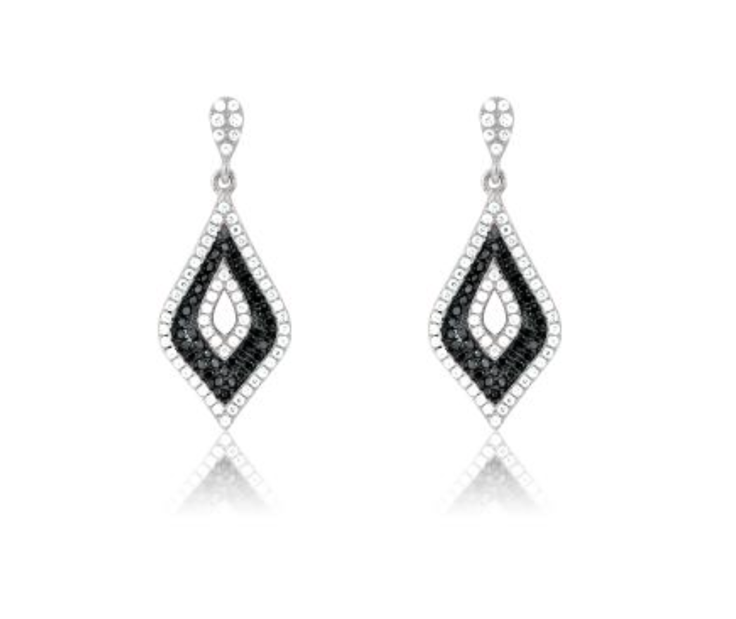 image john women greed earrings jewellery spiral swarovski crystal creativity white