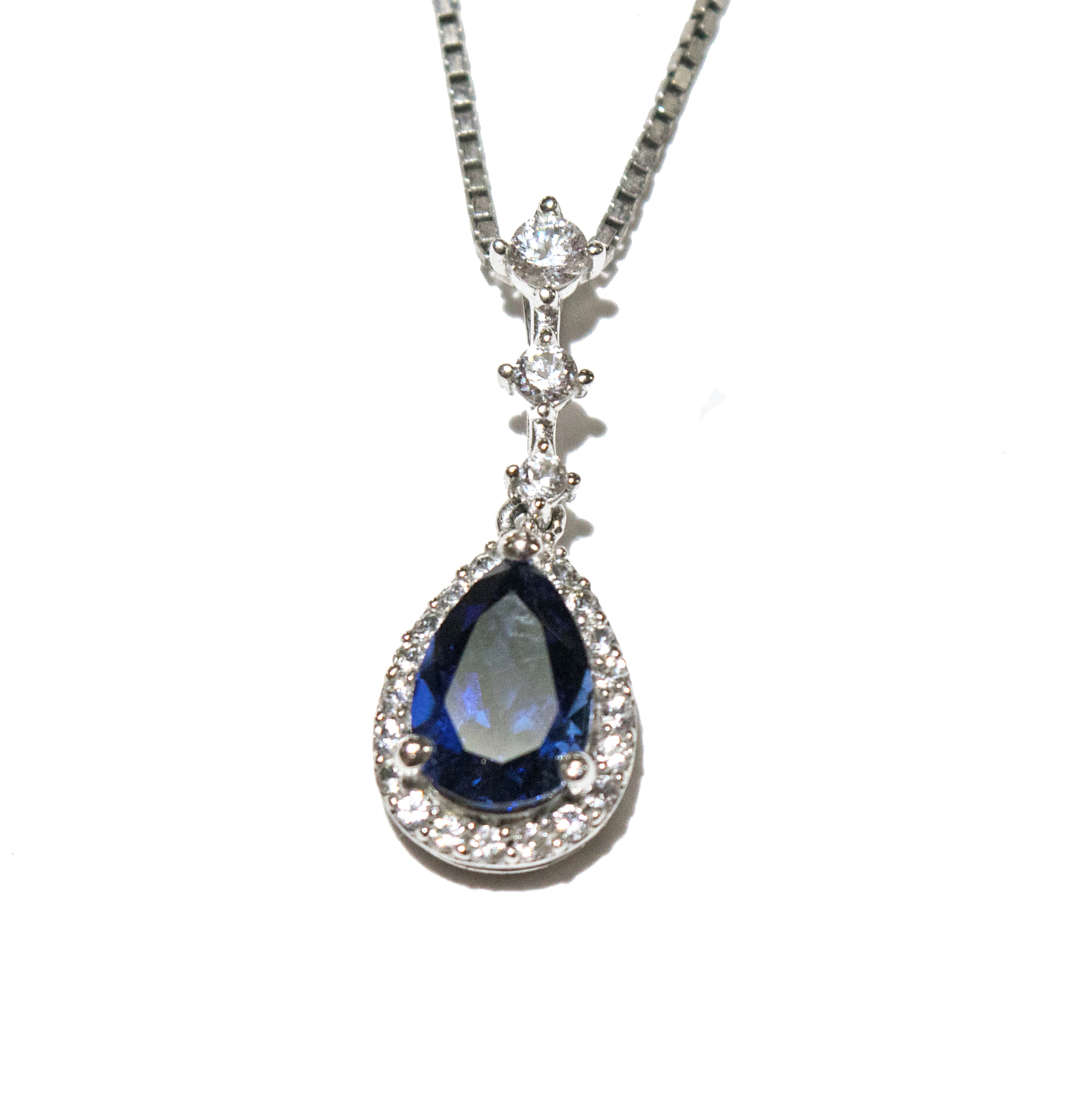 necklace birks snowflake sapphire en with cluster diamond