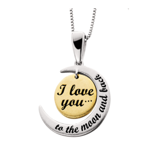 18k i love you to the moon and back necklace condon jewelers 18k i love you to the moon and back necklace mozeypictures Images