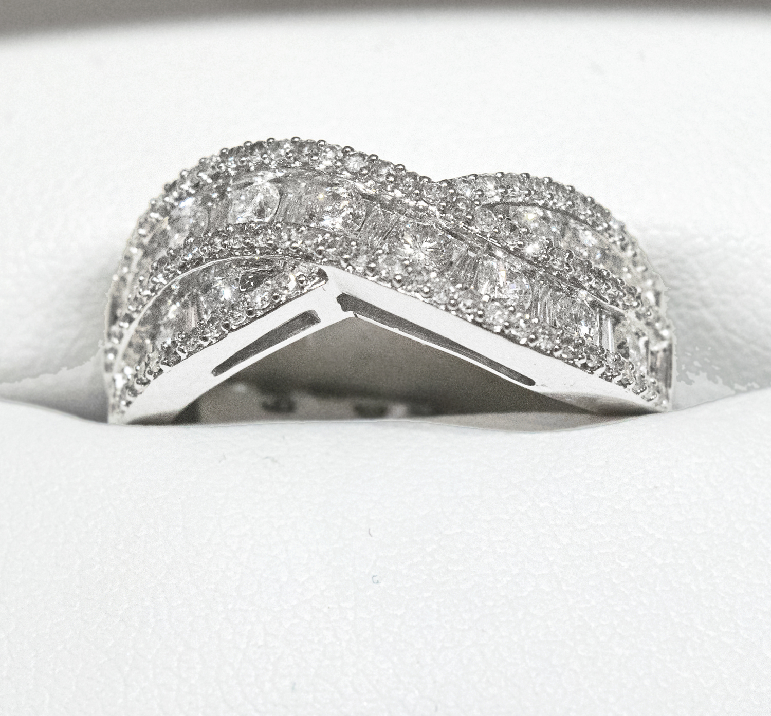 1 Carat Criss Cross Diamond Band — CONDON JEWELERS