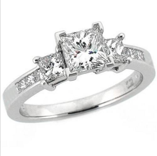 ... 2 Carat Princess Cut Ring. 3 stone princess.png e7cf3cb757c8