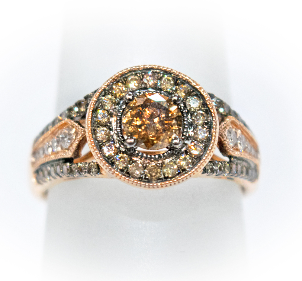 14kt rose gold fancy chocolate diamond ring condon jewelers - Chocolate Wedding Ring