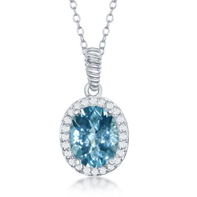Blue and white topaz pendant condon jewelers blue and white topaz pendant aloadofball Gallery