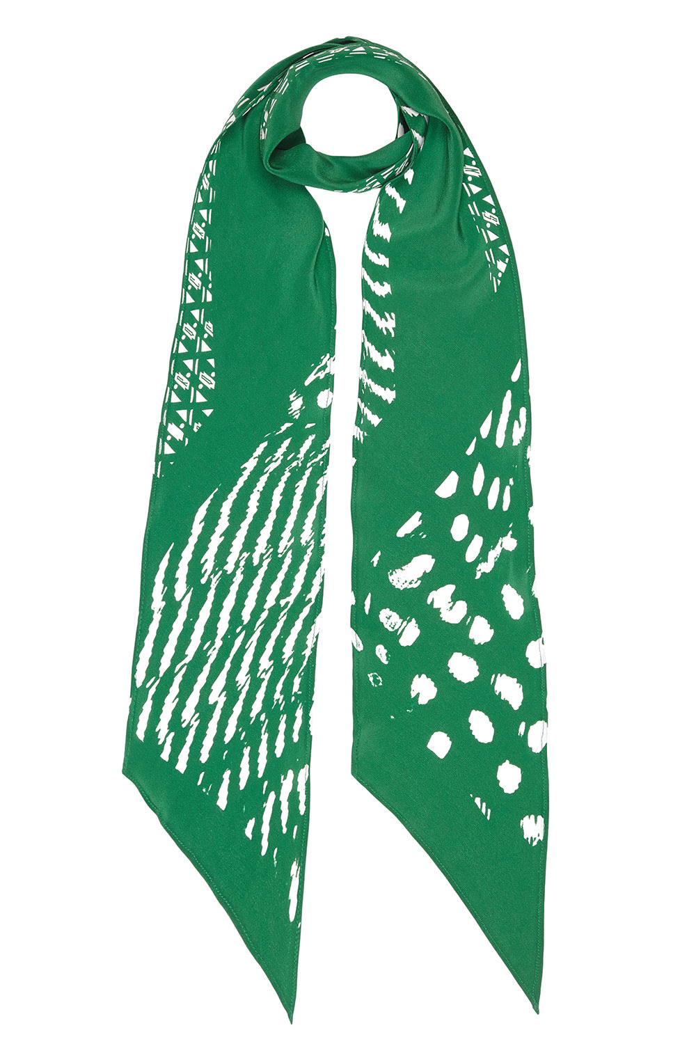 ROCKING Guinea Blow Up Classic Skinny Scarf (Green)