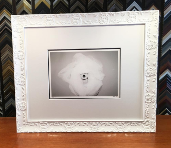 UNDERGLASS-Hand wrapped linen mat for contemporary art framing