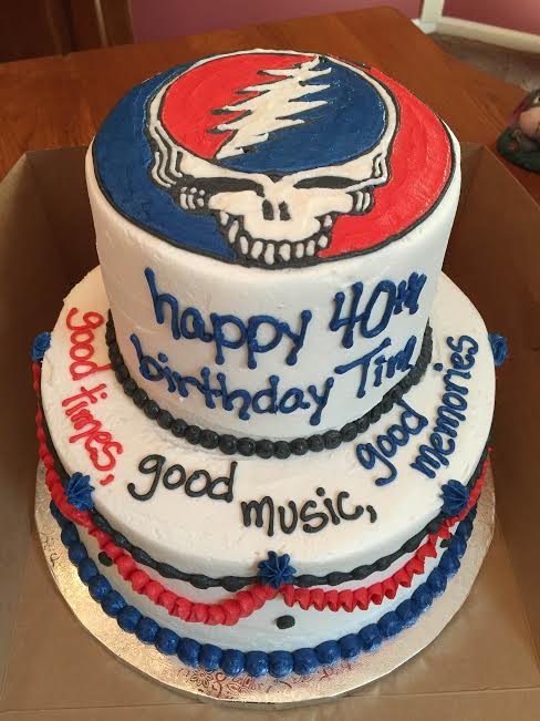 Grateful Dead Stealie Cake