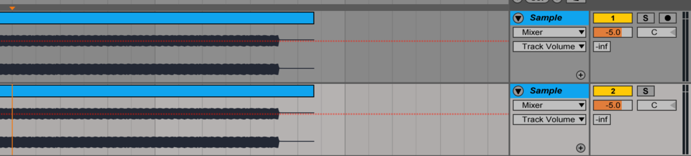 Step 1: Duplicate the audio track, and decrease the volume of each track since the combined sound would be too loud. It will pretty much sound identical to the first audio clip.