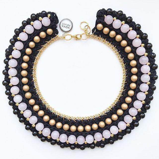 Here is one of the very precious #necklaces with semiprecious stones - #pinkquartz  #vovafruck #jewelrydesigner #handmadenecklace #handmade #necklaceaddict