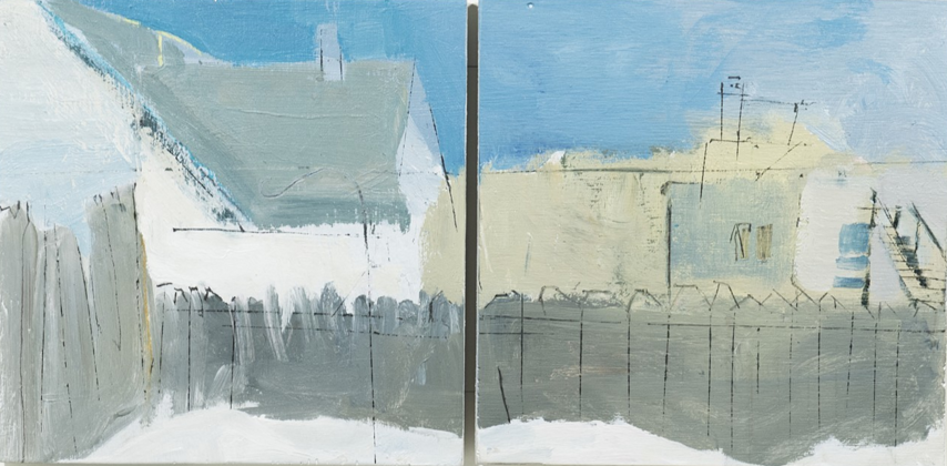 LorenDoucetteBlueSkyBackyard Snow I, Diptych.png