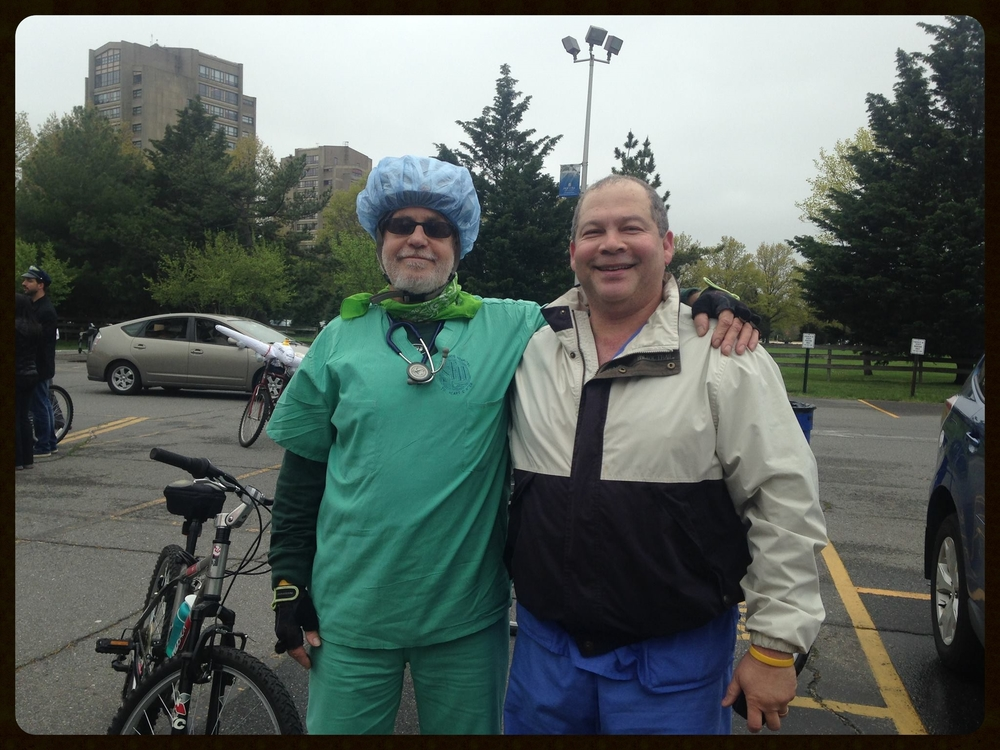 The hospital ward:  Steve and Chris