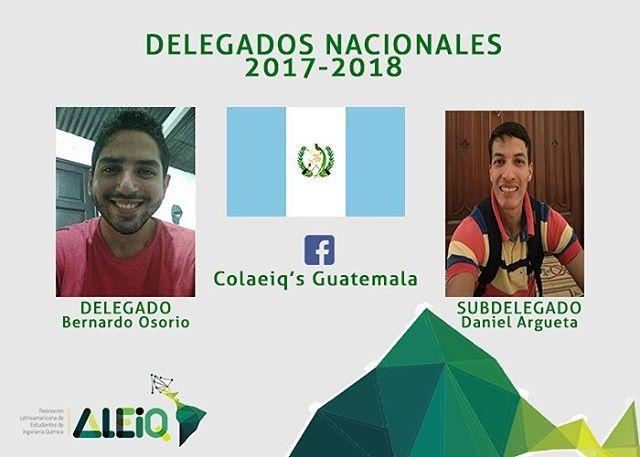 GUATEMALA, Bernardo Yuri Osorio y Daniel Argueta están a cargo de la organización de la delegación  rumbo al COLAEIQ 2018, contactate con ellos a través de su página de Facebook COLAEIQ's Guatemala. #GuatemalaEsALEIQ