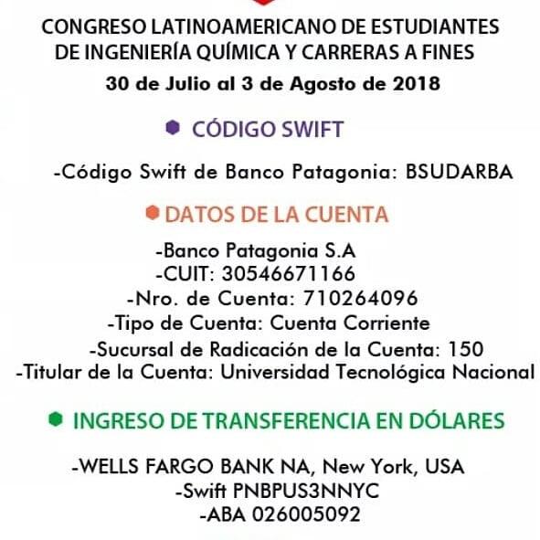 DETALLES DE PAGO PARA EXTRANJEROS! Recuerden que tienen hasta el 28 de marzo para pagar el paquete platinum con un 25% de descuento. #NosVamosParaArgentina #COLAEIQ2018