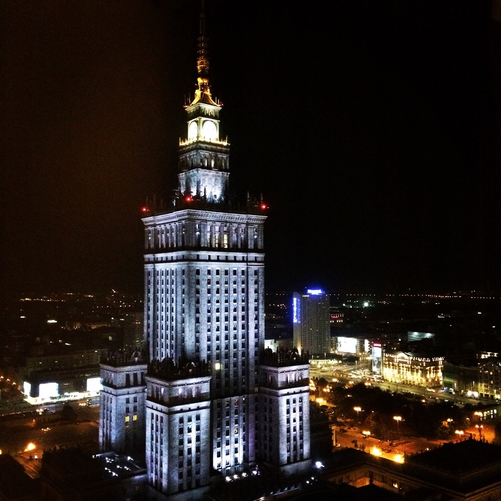 Warszawa. Pałac Kultury. View from the hotel window.