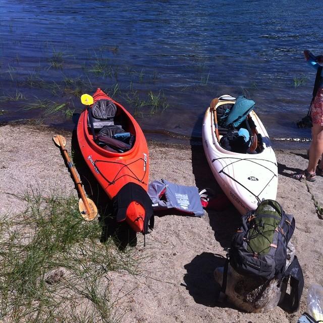 Kayaking on Elk Lake.