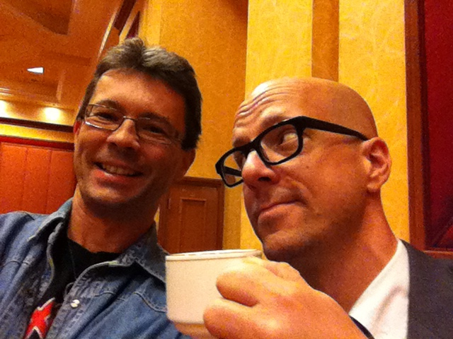 Silly time with George at #TAM2014