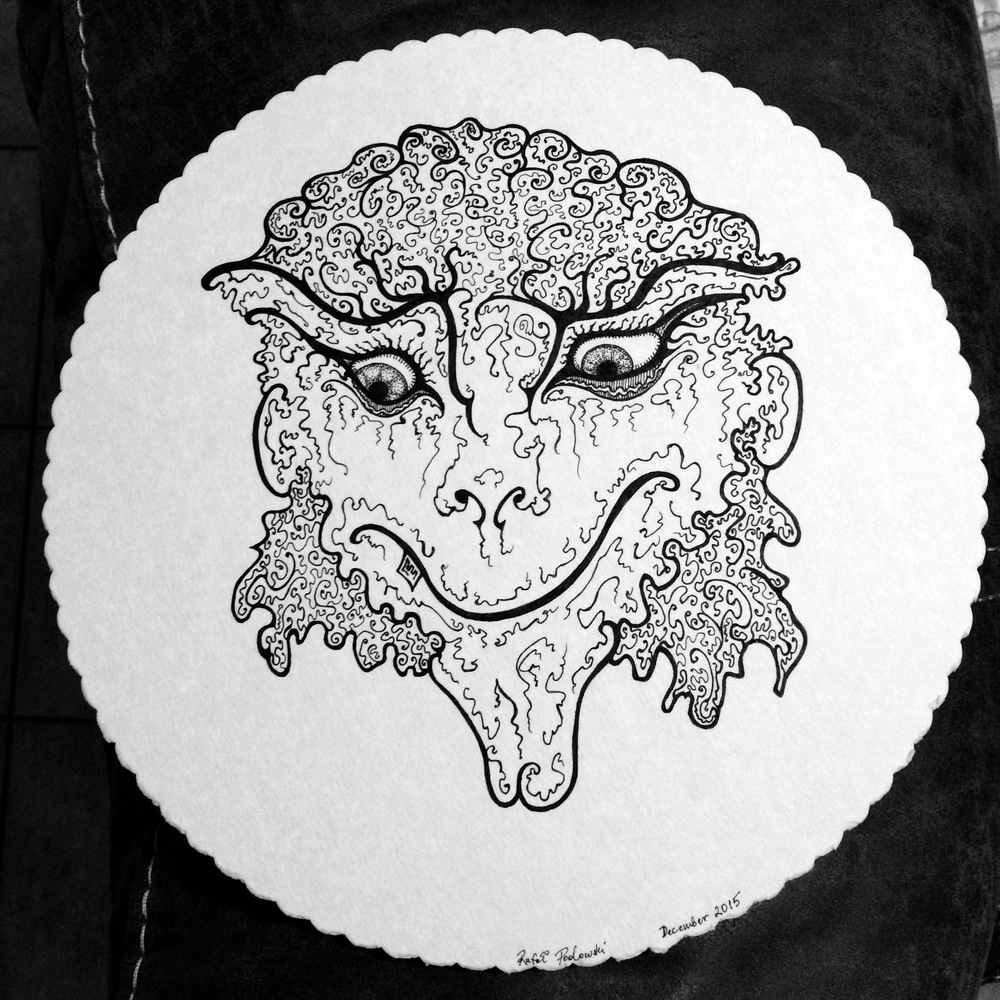 Sheep. Ink of card. 2015.
