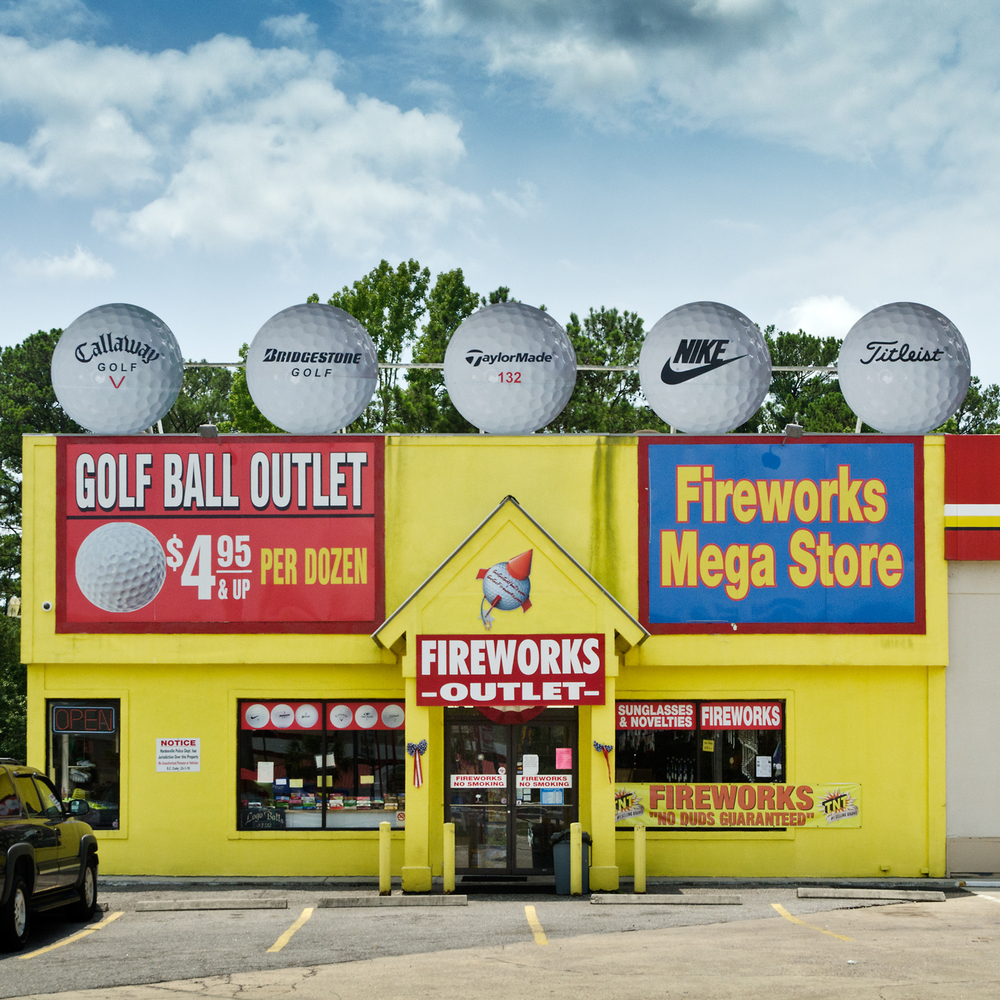 Golf Ball Outlet and Fireworks Mega Store. Hardeesville, SC