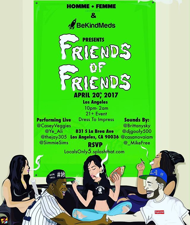 Come catch that #420 vibe with #HFLA x #bekindmeds... its gonna be #lit for sure 🔥🔥#friendsoffriends x #smokeout x #puffpuffpass x #hollywood x #losangeles x #litty x #marijuana x #dope x #weed x #weedporn x #ganja x #cannabiscommunity x #cannabis x #weedmaps