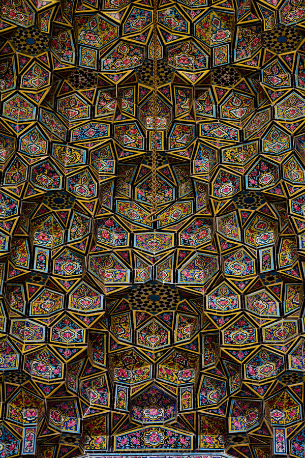 Detail of tiles at Nasir al-Mulk Mosque. (Image:  Huffington Post )