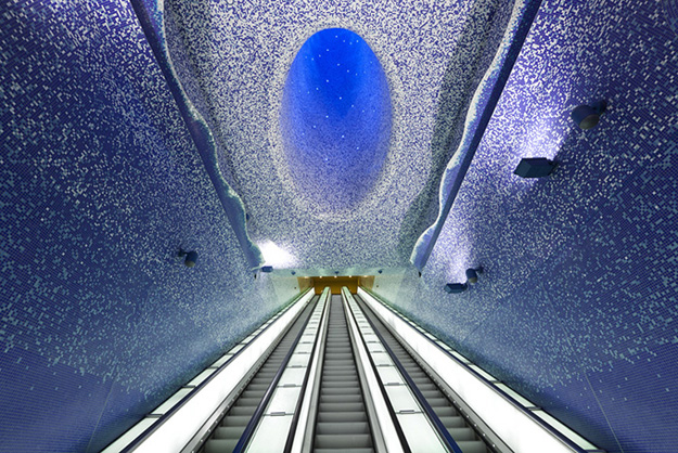 Toledo Metro Station in Naples, Italy. (Image:PSFK)