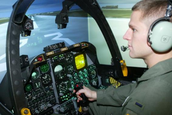 The Air Force uses virtual reality to create flight simulators for training.(via Tweak Town)
