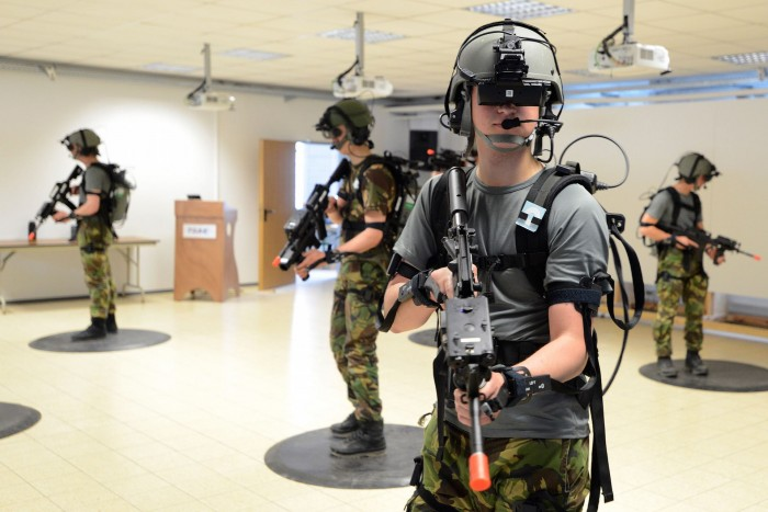 Virtual Reality allows soldier to experience a real-world combat environment without the risk of injury or death. (via    Road To     VR  )