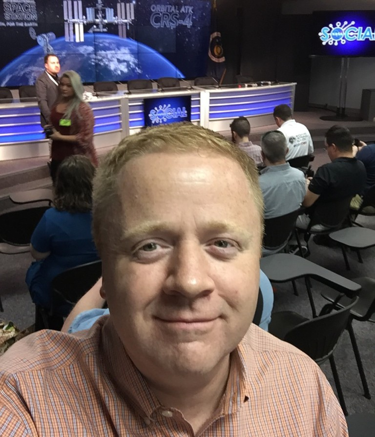 Me, in the NASA KSC Media Center