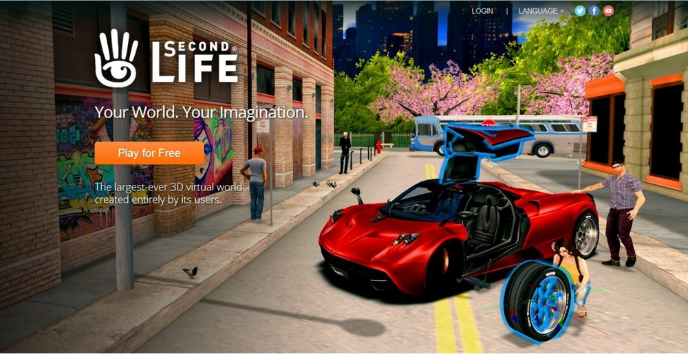 Second Life is a virtual world in which users can create and sell their own user-generated content. (via   Modem World   )