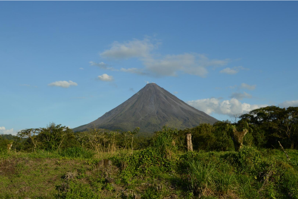 The Arenal Volcano. An active stratovolcano in north-western Costa Rica.