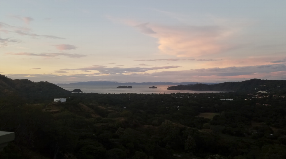 The view from The Lookout. A seafood restaurant and oyster bar located in Playas Del Coco, Guanacaste, Costa Rica.