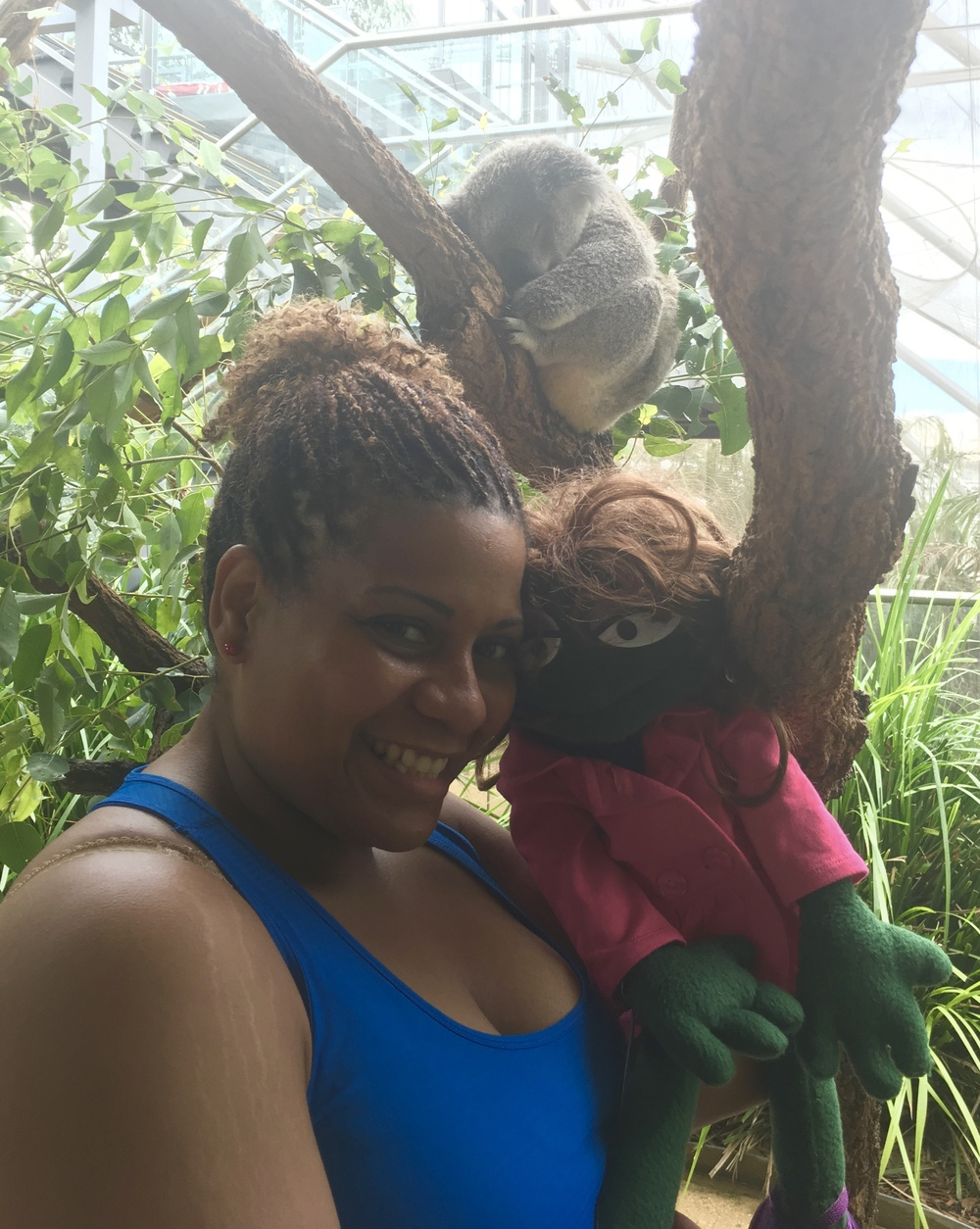 So...ummm...yeah not much excitement on this trip. Just a girl and her frog.  Well, and a koala bear. Totally normal, right?