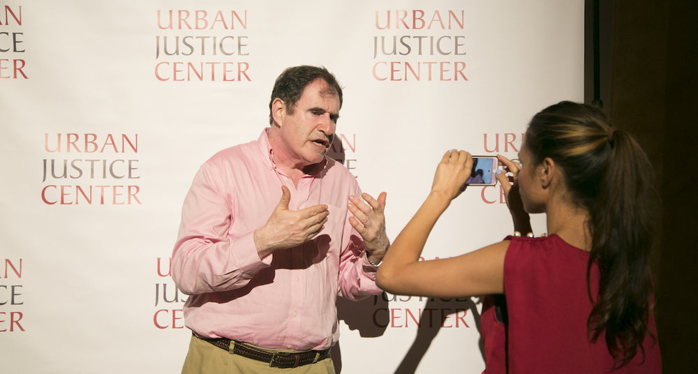 Me interviewing actor Richard Kind at the UJC poker themed fundraiser, Justice Is Blinds, in 2017. In addition to my design duties at UJC, I have produced and edited videos for social media, configured livestreaming for panel events, and provided hands-on setup and breakdown assistance at year-round fundraisers.