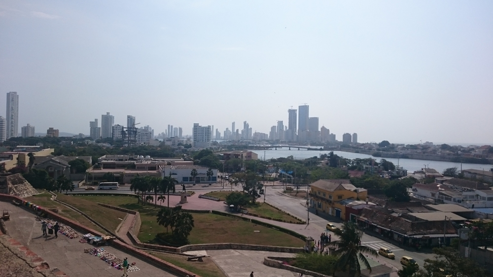The View of Cartagena from the fort.