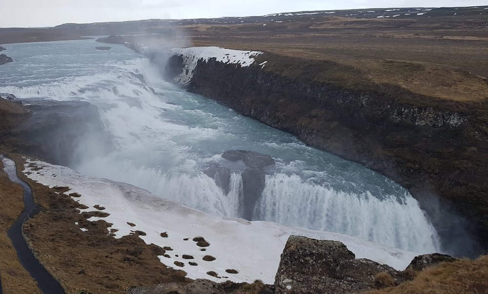 Gullfoss Waterfall in Tungufell