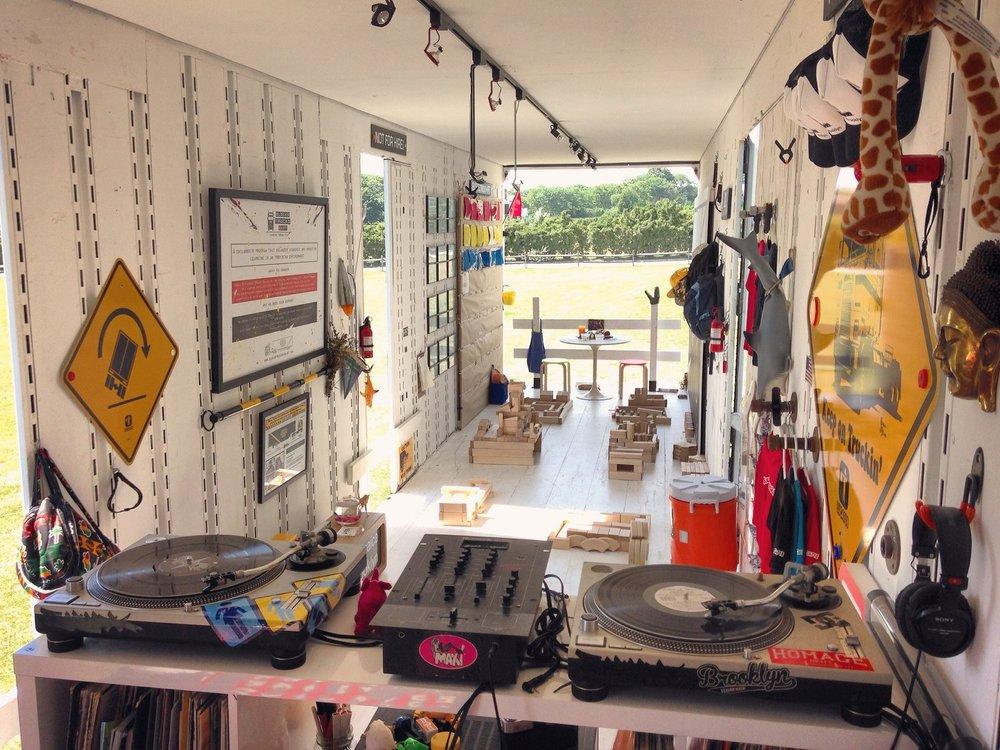 Blocks, Trucks + Art's mobile 18-Wheeler designed and built by  Jeff Mayer