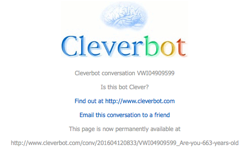 Click on the header to read full converstion with Cleverbot on the nature of 'Universal Justice and Peace of the Eternal Being.'