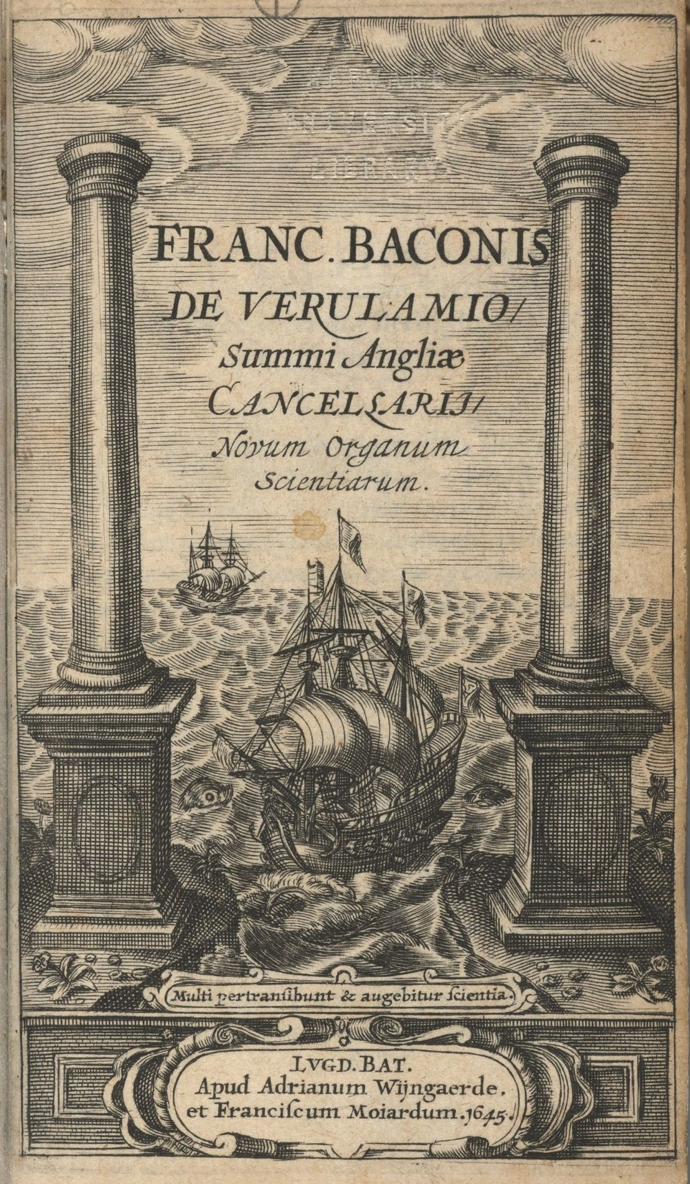Novum Organum Scientarium, 'New Instrument of Science', 1620 AD.