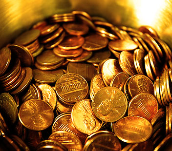 Pennies typically don't make much cents.