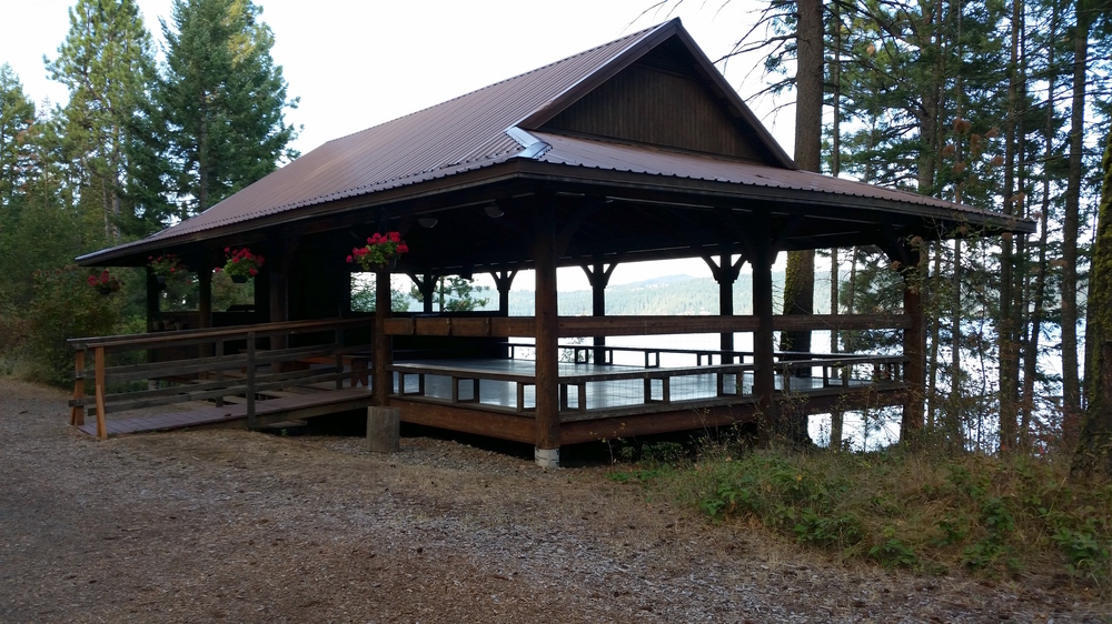 On the shores of Lake Coeur d'Alene