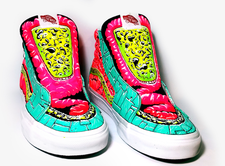 Digestive System Vans High Tops