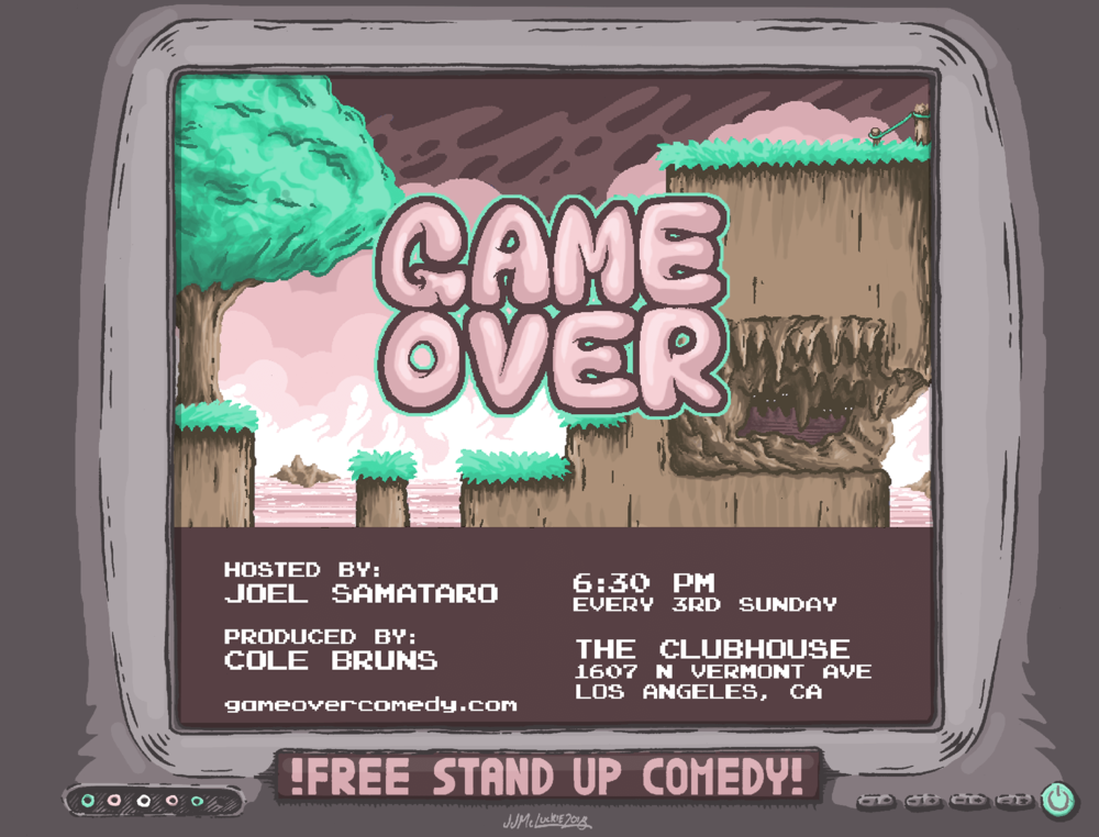 Game Over Stand Up Poster