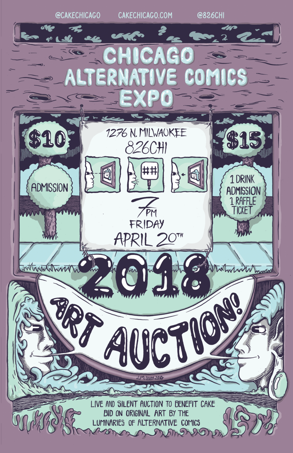CAKE Art Auction Poster
