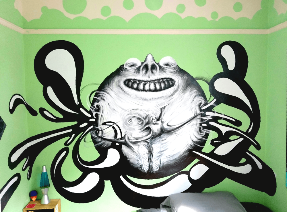Bedroom Bubble Mural